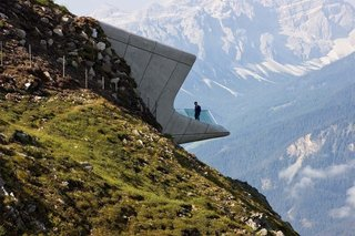 Could One of These  Game-Changing Projects Define 2016? - Photo 4 of 4 - The Messner Mountain Museum, located 7464 feet above sea level in Italy's Dolomites, is one of Zaha Hadid's last works. The celebrated British architect passed away in March.