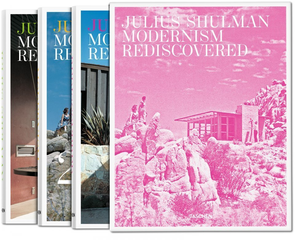 """Julius Shulman: Modernism Rediscovered"" chronicles more than 400 architectural masterstrokes captured by the late photographer Julius Shulman. The focal point is Southern California, Shulman's home, but the three-volume book also features work from the rest of the U.S., Mexico, Israel, and Hong Kong.   Bask in the Retro Glow of Photos from Postwar SoCal (and Beyond) by Luke Hopping"