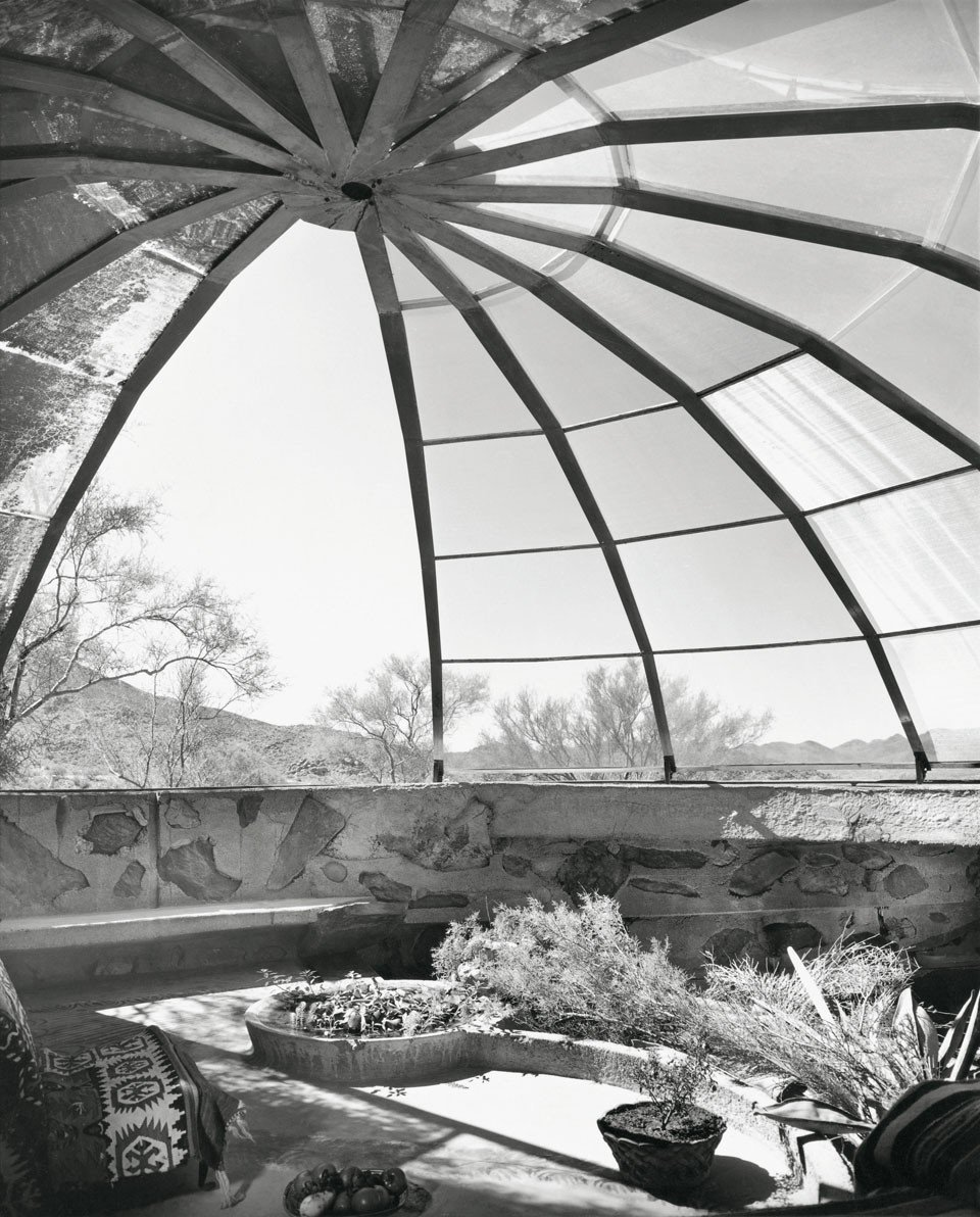 "Woods Residence (""The Dome House"") by Soleri & Mills, Cave Creek, Arizona (1950)"