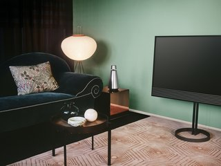 Sound and Vision: Elegant New Home Electronics From Denmark - Photo 3 of 3 - The BeoVision Horizon has built-in sensors to measure lighting conditions and adjust screen brightness. It can access online content via Android Smart TV and Google Cast.