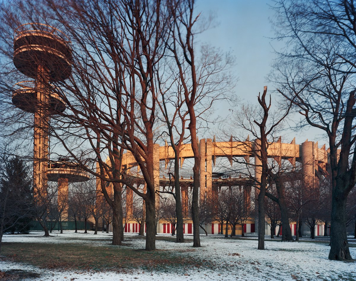 New York 1964 World's Fair, Peace Through Understanding, New York State Pavilion, Winter View, 2014. Photo by Jade Doskow