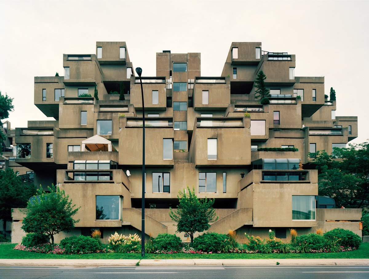 Montreal 1967 World's Fair, Man and His World, Habitat '67, Day View, 2012. Photo by Jade Doskow  8 Otherworldly Photos of What the Future Was Supposed to Look Like by Luke Hopping
