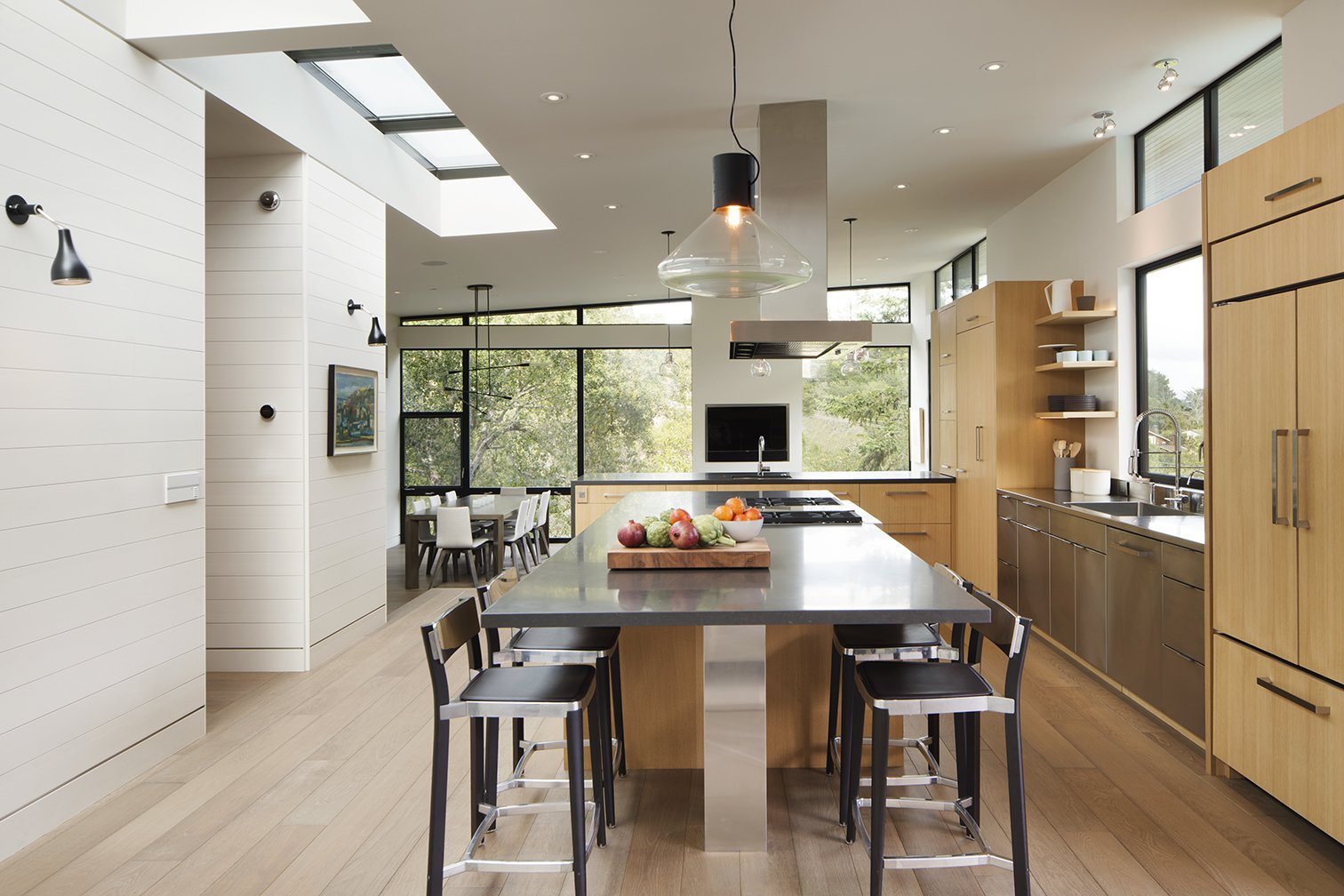 The home includes an eat-in kitchen as well as distinct, sunken dining area.  Photo 5 of 5 in A New Spin on the Suburbs in Marin