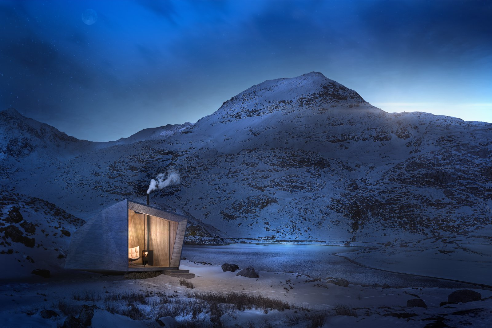 Arthur's Cave, by Miller Kendrick Architects, references King Arthur and will be insulated with locally sourced sheep's wool.