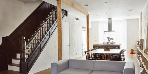 A couple reconfigure a dilapidated Brooklyn brownstone and prepare it for the 21st century. Photo  of Bedford-Stuyvesant Brownstone modern home