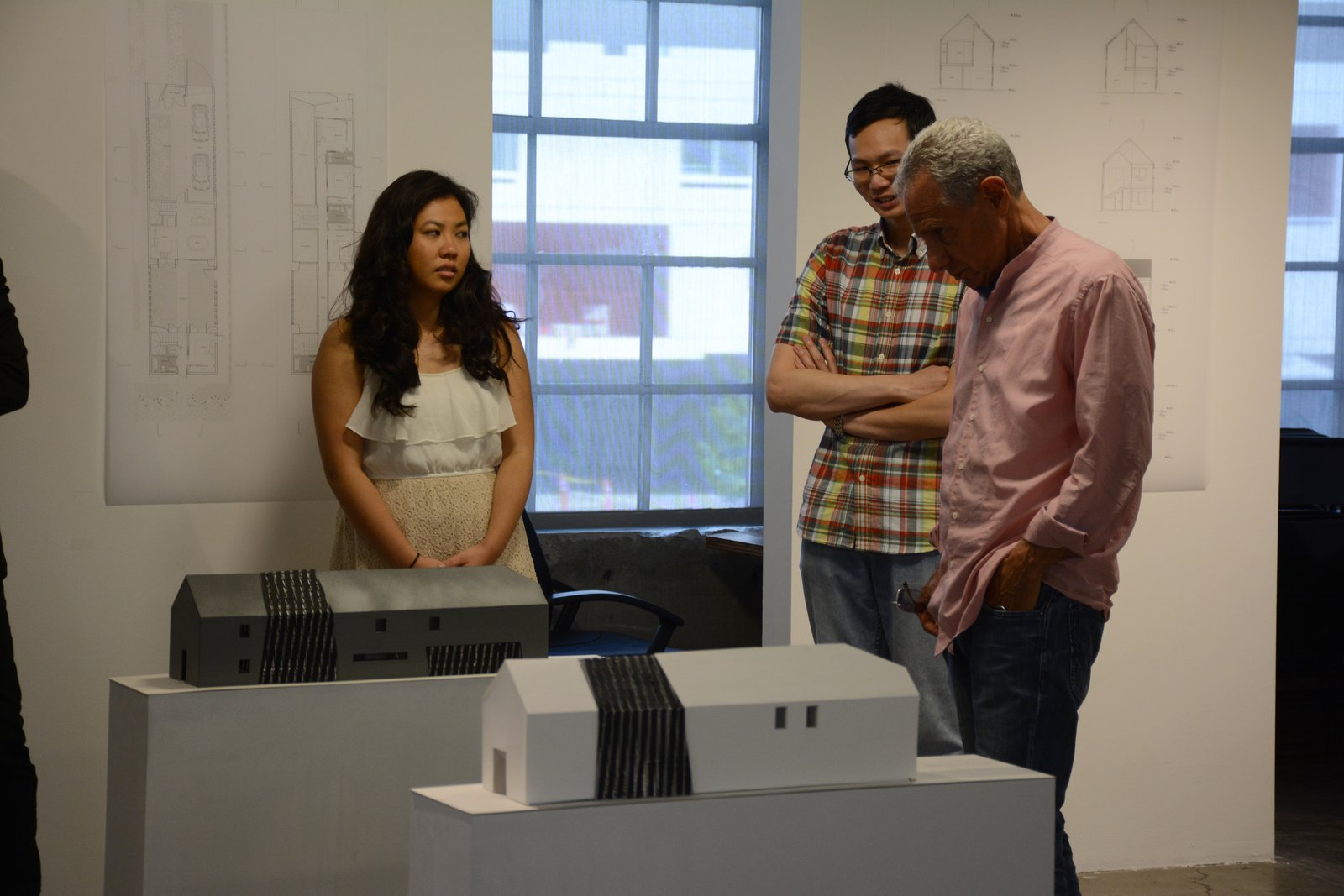 Models on exhibition during project's reception.