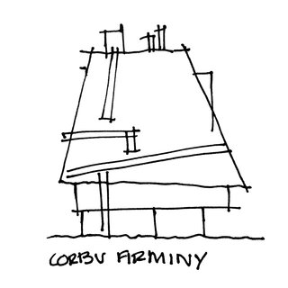 Napkin Sketches - Photo 1 of 6 - Church at Firminy by Le Corbusier.