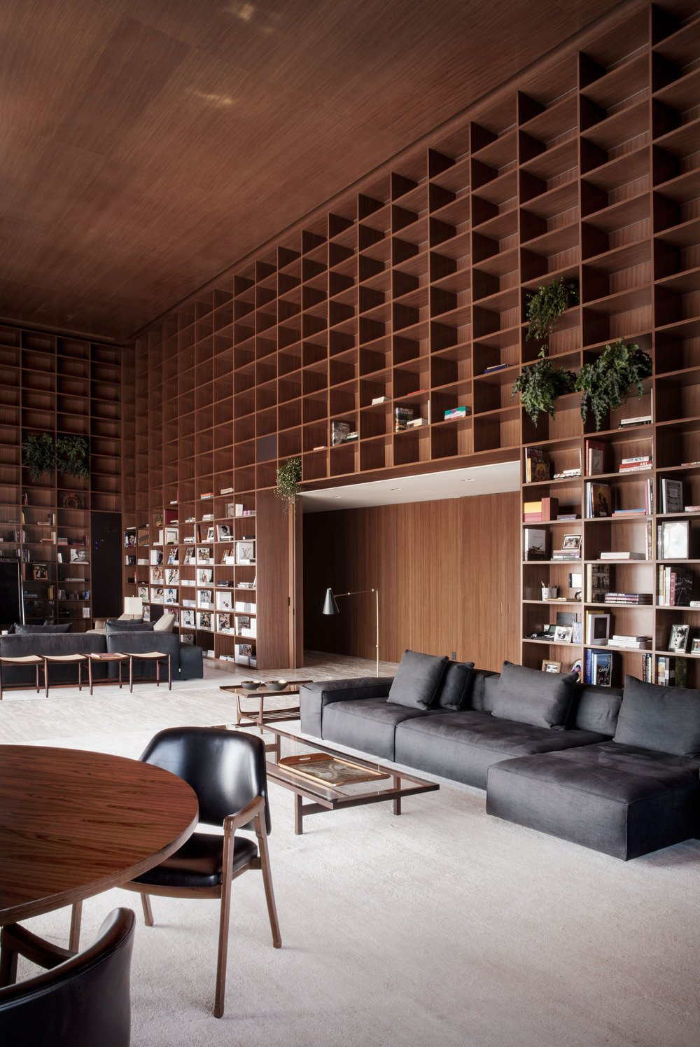 #library #sectional #bookshelves #reading #relaxing #storagegoals Photo by Jonas Bjerre-Poulsen 30+ Modern Homes With Libraries by Matthew Keeshin