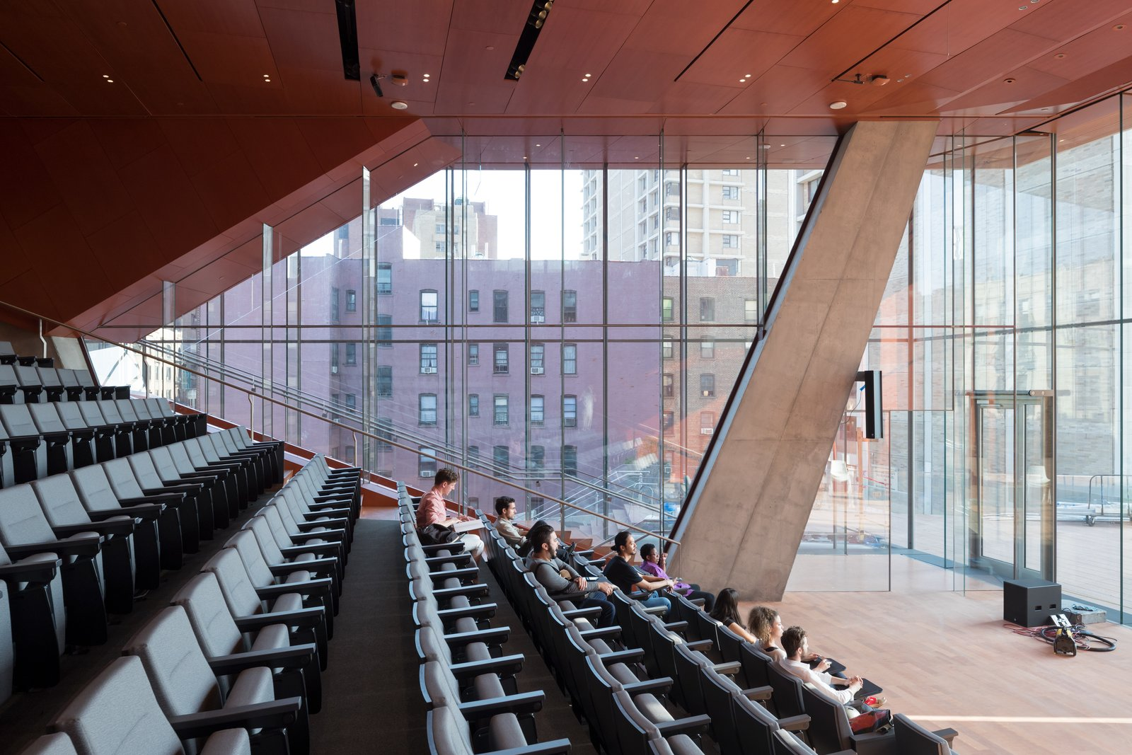 The auditorium includes 275 seats for lectures and concerts. Design Diagnosis: Back to School - Photo 4 of 4