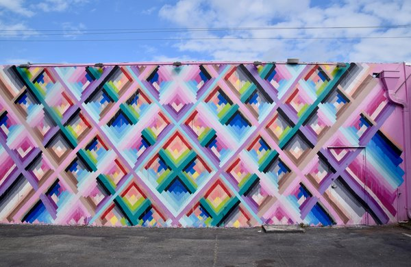 Art and Design Come Together in These 10 Examples of Inspirational Wall Murals - Photo 10 of 12 - Maya Hayuk's colorful wall mural in Miami, which was created for Art Basel in 2013, features an energy that's fit for the streets of this vibrant city.