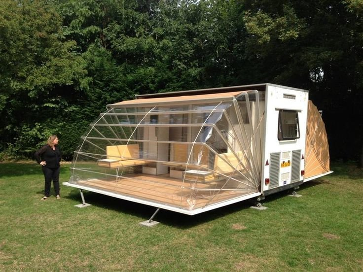 "Eduard Bohtlingk, a Dutch designer and architect, designed this ""urban camper,"" called the Markies (that's 'Marquis' in English) that was featured as part of the Urban Campsite art installation in Amsterdam. People were invited to stay in the artist-designed structures within city limits.  Off the grid by Michela O'Connor Abrams from Camping"