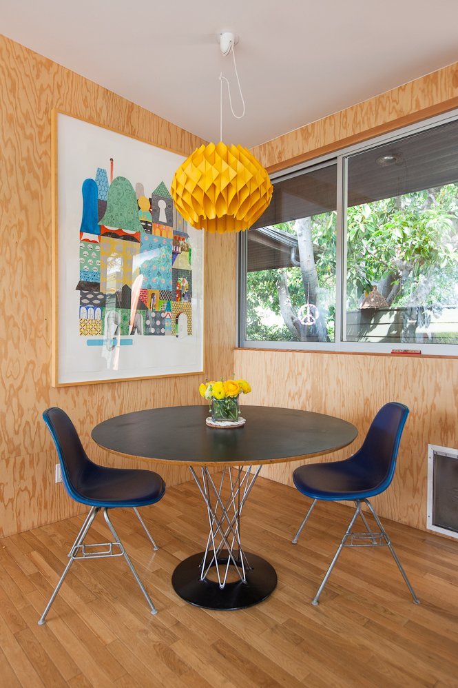 #SwanHouse #renovation #remodel #1950s #modern #interior #inside #dining #lighting #table #chairs #windows #2013 #LosAngeles #California #BarbaraBestor  60+ Modern Lighting Solutions by Dwell from Swan House