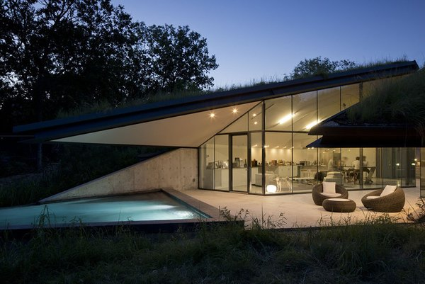 #EdgelandHouse #residence #modern #sunken #pithouse #angles #exterior #outside #outdoors #structure #BercyChenStudio Photo 8 of Edgeland House modern home