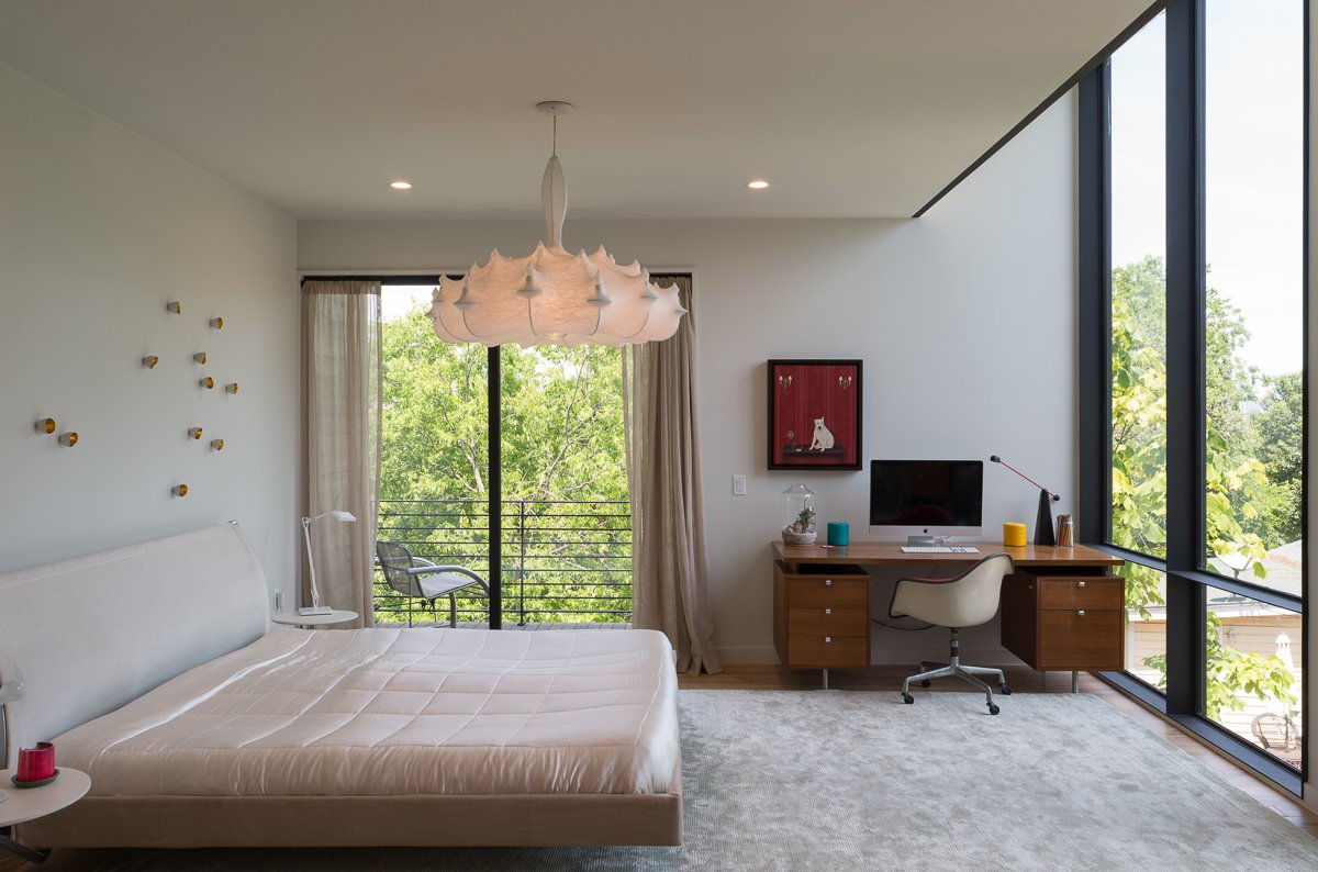 Tagged: Bedroom, Bed, and Pendant Lighting.  Tetra House by Bercy Chen Studio