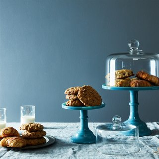 Blown Glass Cake Stand Dome