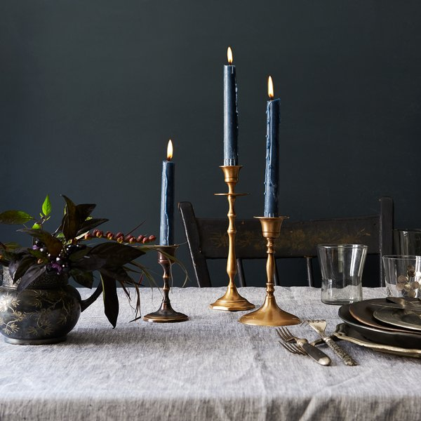 Food52 Vintage-Inspired Brass Mixed Candlesticks