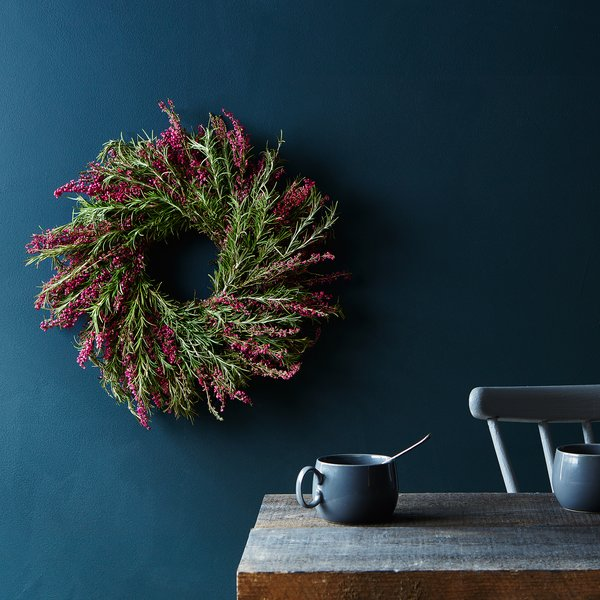 Fresh Rosemary & Heather Wreath