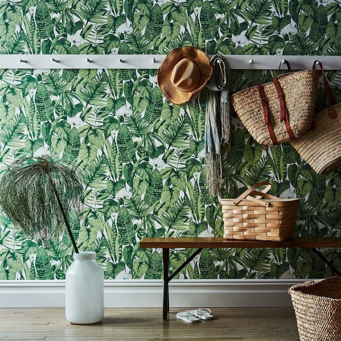 Photo 1 of 1 in Self-Adhesive Wallpaper, Tropical Jungle