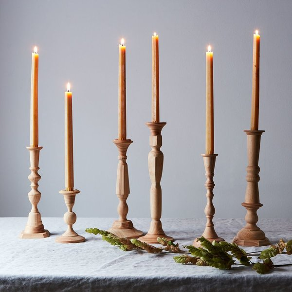 Georgian Wood Candlesticks