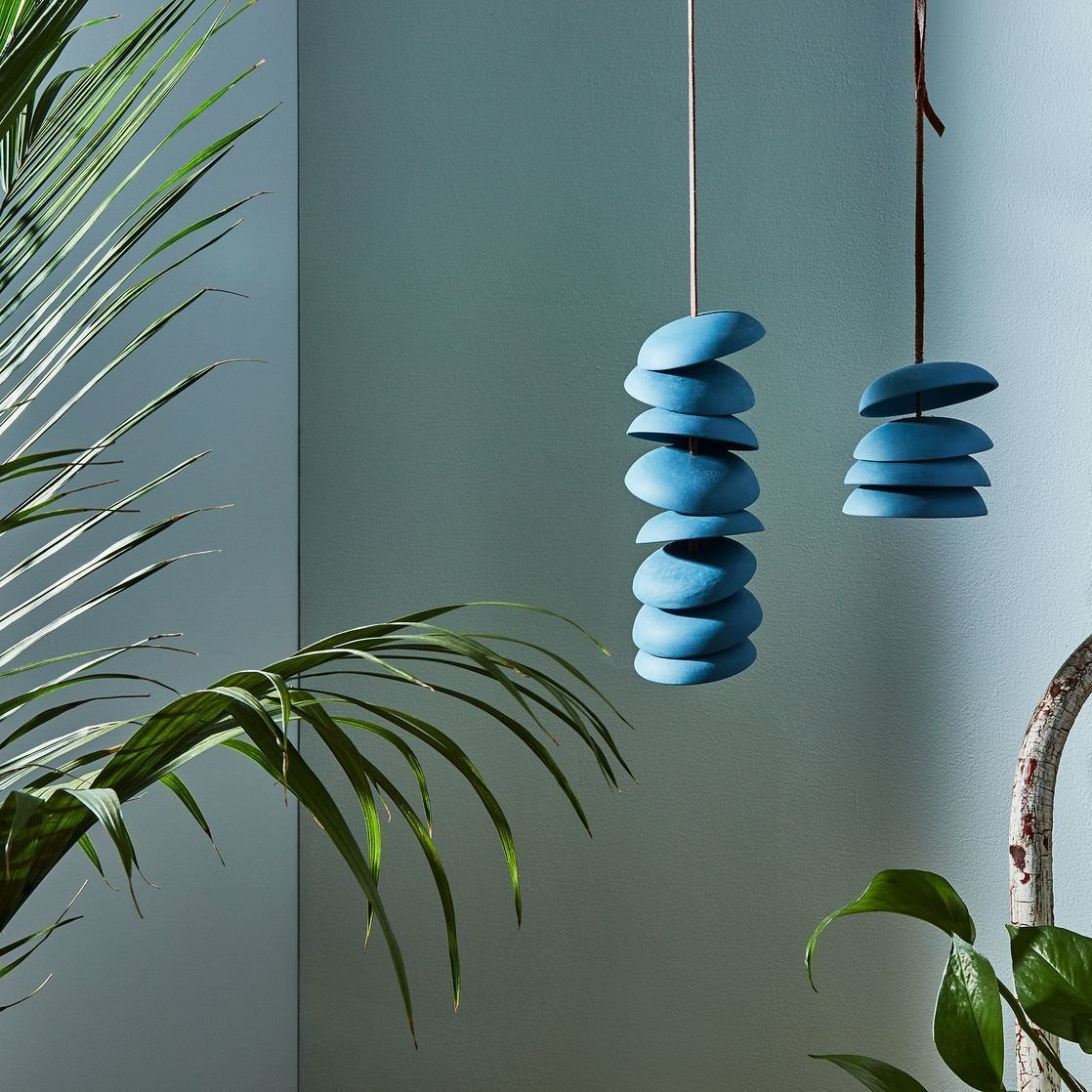 Photo 1 of 1 in Blue Porcelain Wind Chimes