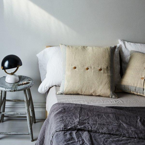 Agrarian Striped Linen Pillow
