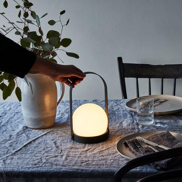Black Steel Rechargeable LED Lantern