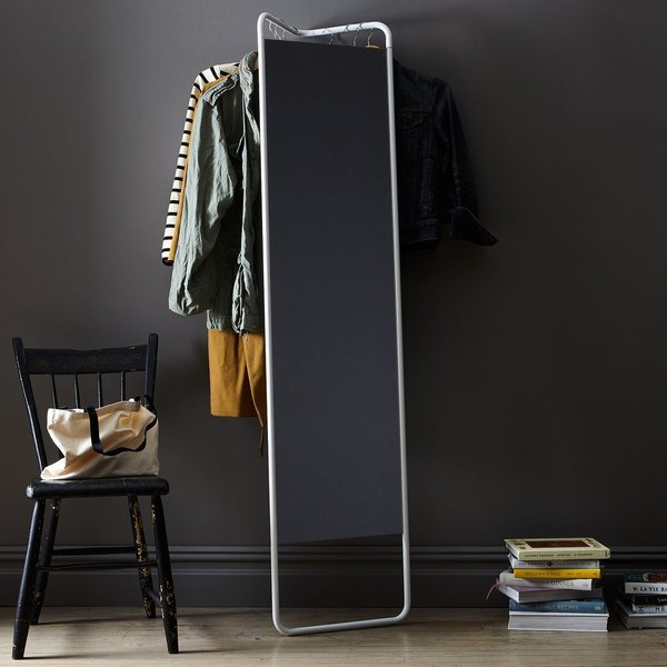 Hanging Storage Floor Mirror