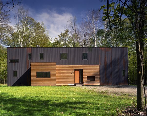 #CopperHouse #modern #corrugatedcopper #patina #transformation #structure #form #exterior #outside #outdoors #landscape #HudsonValley #JaredDellaValle #BernheimerArchitecture Photo 3 of Copper House Hillsdale modern home
