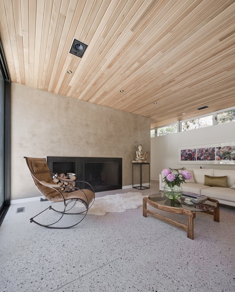 #LightboxWainscott #structure #form #stackedboxes #modern #interior #inside #indoors #livingroom #fireplace #seating #wood #ceiling #JaredDellavalle #BernheimerArchitects  Lightbox Wainscott by Bernheimer Architecture