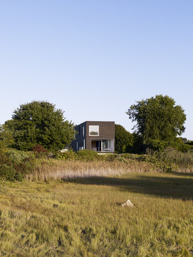 #QuonochontaugHouse #structure #form #coastal #exterior #outside #outdoors #landscape #modern #midcentury #view #RhodeIsland #BernheimerArchitects  Quonochontaug House by Bernheimer Architecture