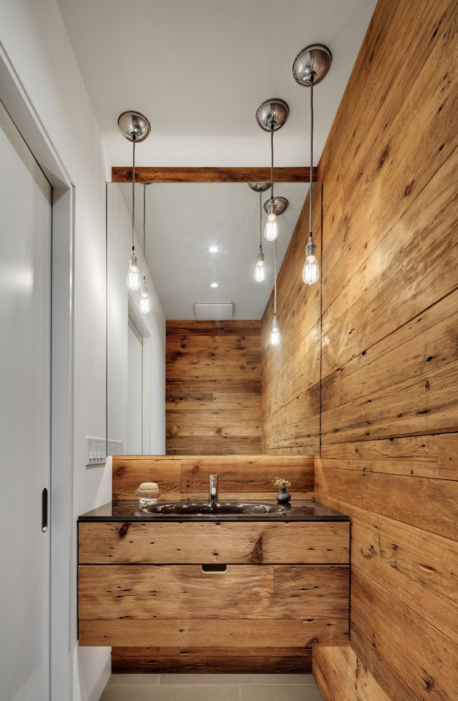 #2039Dickens #structure #form #modern #midcentury #sidelot #addition #interior #inside #indoors #wood #sink #lighting #smallspace #2009 #BlenderArchitecture