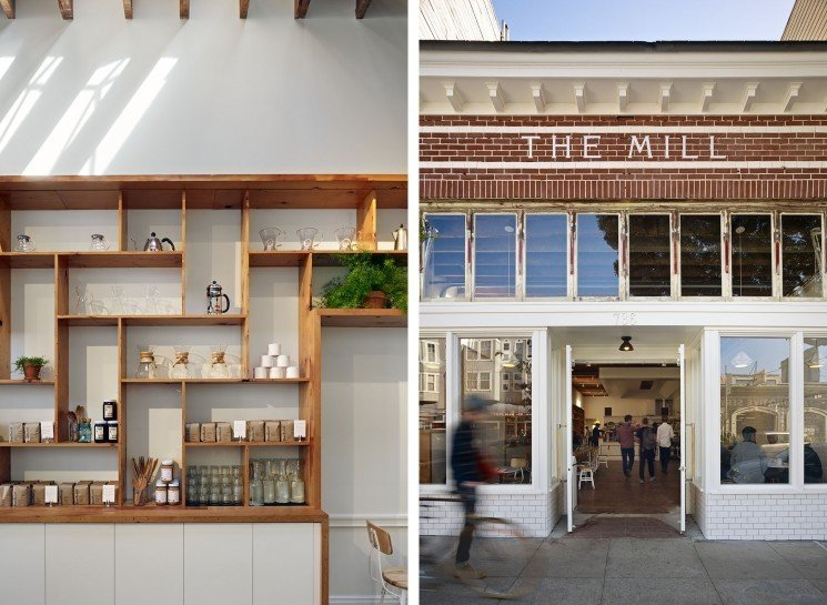 #TheMill #modern #dining #cafe #collaborative #bright #warm #wood #palette #welcoming #exterior #outside #outdoors #facade #entryway #windows #lighting #2013 #SanFrancisco #BoorBridgesArchitecture  The Mill by Boor Bridges Architecture