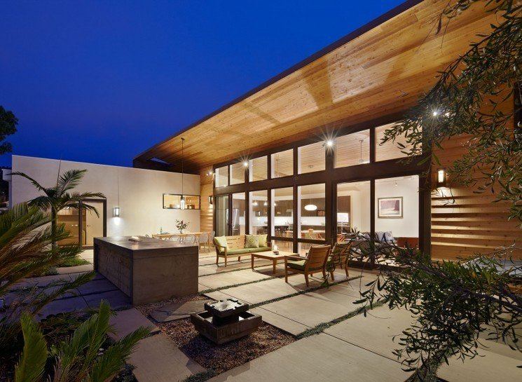 #TurtleRockHouse #modern #structure #residence #exterior #outside #outdoors #seating #deck #windows #lighting #patio #Irvine #2011 #BoorBridgesArchitecture  Turtle Rock House by Boor Bridges Architecture