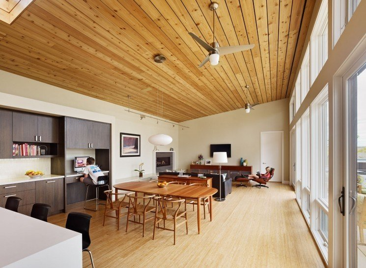 #TurtleRockHouse #modern #structure #residence #interior #inside #indoors #kitchen #dining #livingroom #lighting #windows #naturallight #wood #ceiling #Irvine #2011 #BoorBridgesArchitecture