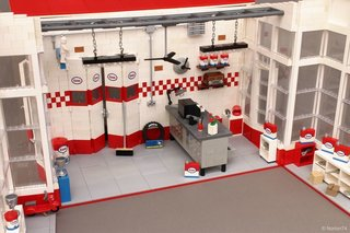 A Modernist Gas Station Made From Lego Is Fit For Any Shelf - Photo 2 of 6 -
