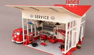 A Modernist Gas Station Made From Lego Is Fit For Any Shelf - Photo 6 of 6 -