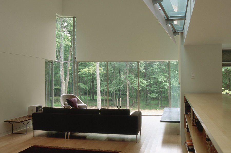 #inside #interior #indoor #livingroom #couch #chair #window #light #view #forest #Princeton #NewJersey #GarrisonArchitects