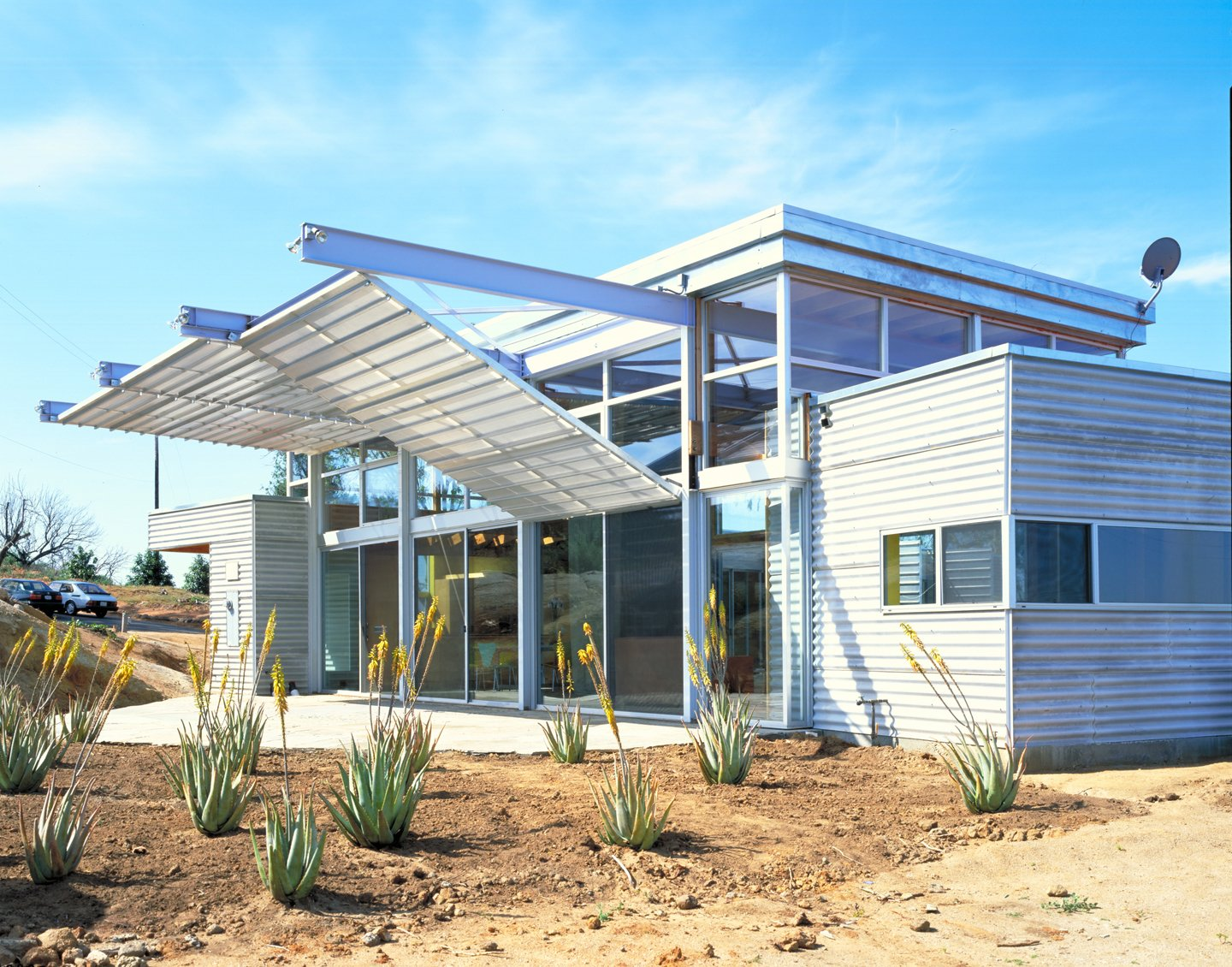 #outside #exterior #outdoor #landscape #desert #succulent #eco #green #sustainable #ValleyCenter #California #KevinDalyArchitects Valley Center House by Kevin Daly Architects