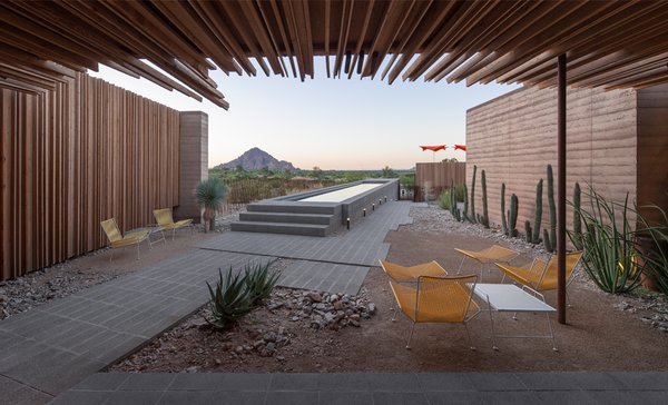 #interior #exterior #modern #arizona #2012 #architecture #jonesstudio #residence #lighting #naturallighting #backyard #desert #seatingdesign #color #pooldesign Photo  of The Outpost modern home