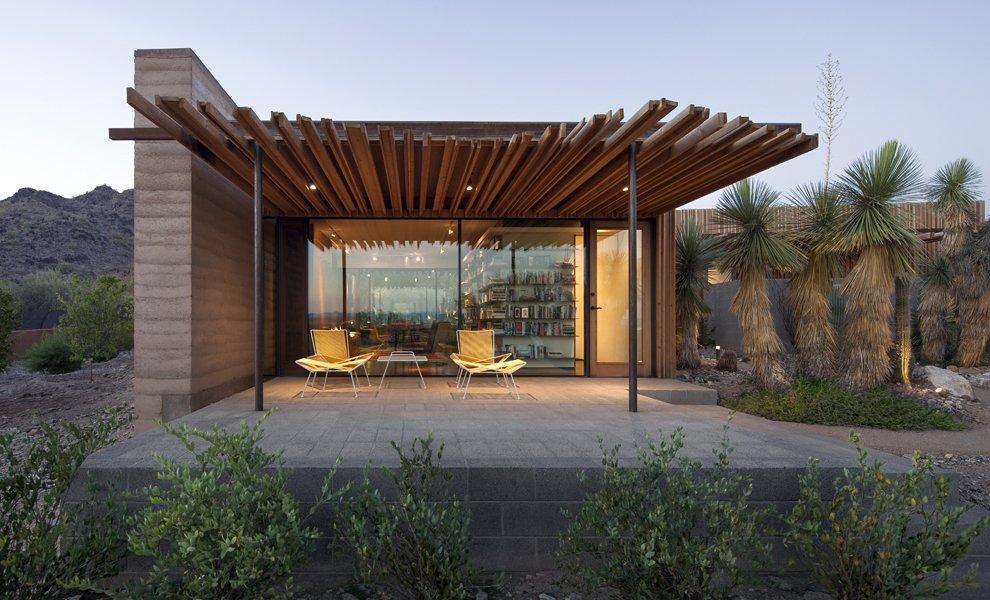 #exterior #modern #arizona #2012 #architecture #jonesstudio #residence #outdoor #naturallighting #backyard #color #seatingdesign #landscaping  The Outpost by Jones Studio