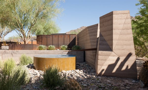 #exterior #modern #arizona #2012 #architecture #jonesstudio #residence #outdoor  #naturallighting #backyard #pooldesign Photo 3 of The Outpost modern home