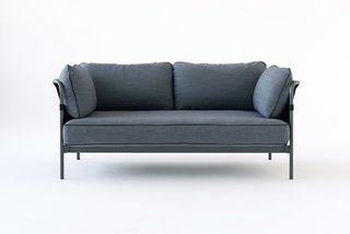 Can sofa in a calming— and easy to pair— grey.