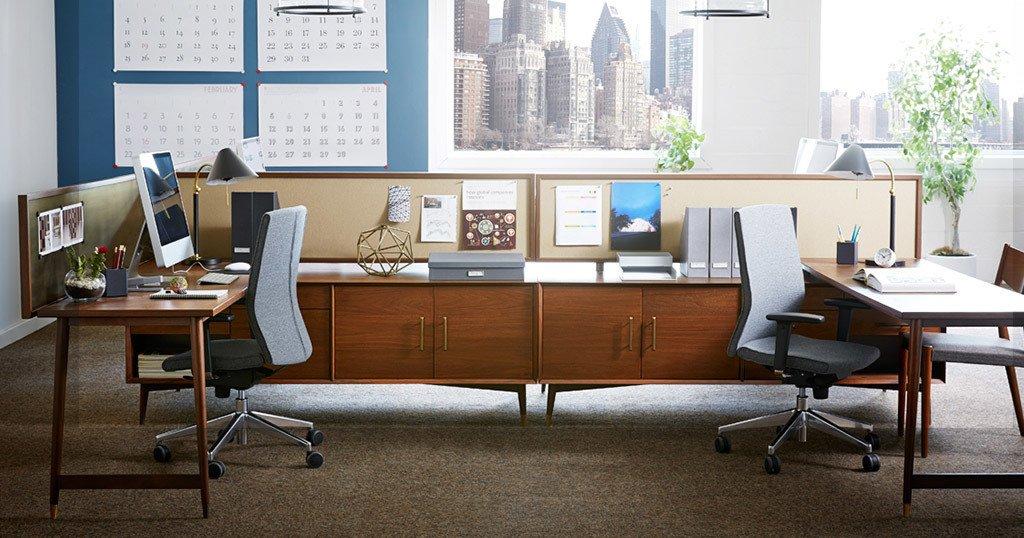 #WestElm #workspace #midcentury  West Elm Workspace - Midcentury Collection by West Elm