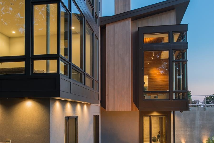 Photo courtesy of Holmes, King, Kallquist & Associates provided by Marvin Windows and Doors; project submitted to 2017 Marvin Architects Challenge Tagged: Outdoor and Back Yard.  Modern Waterfront Residence by Marvin Windows and Doors