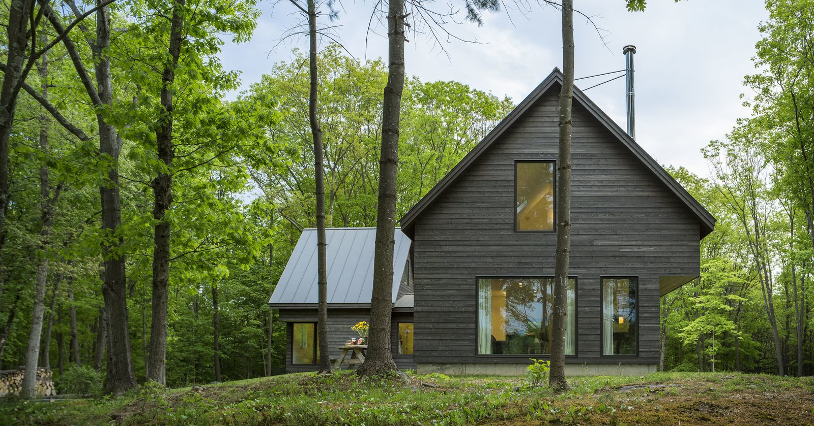 Architect Elizabeth Herrmann's Knoll House project, Best Transitional category winner of 2017 Marvin Architects Challenge.   Tagged: Outdoor, Trees, Side Yard, and Grass.  Knoll House by Marvin Windows and Doors