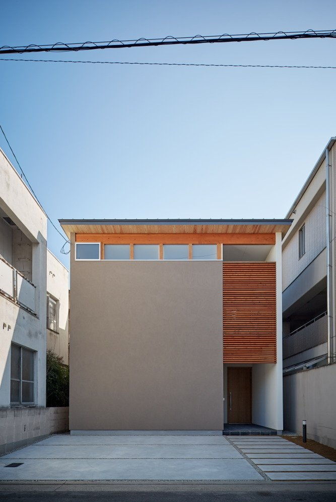 Tagged: Exterior, Wood Siding Material, House, and Flat RoofLine.  Photo 10 of 10 in 10 Ultra-Modern Homes in Japan from House of Takamatsu Bancho by TENK