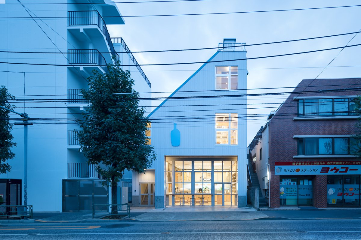 Photo 2 of 6 in Blue Bottle Coffee Nakameguro Cafe by Schemata Architects