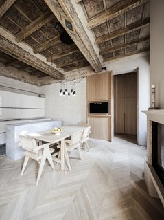 10 Exquisitely Modern Homes in Italy - Photo 7 of 10 - The project involves the recovery of an entire multi-story building located in the consolidated urban area of Mantua, in which the apartment constitutes a portion of the building. The house is characterized by its decorations in the ceilings and walls that date back to 1500's, as well as the first half of the 1800s.