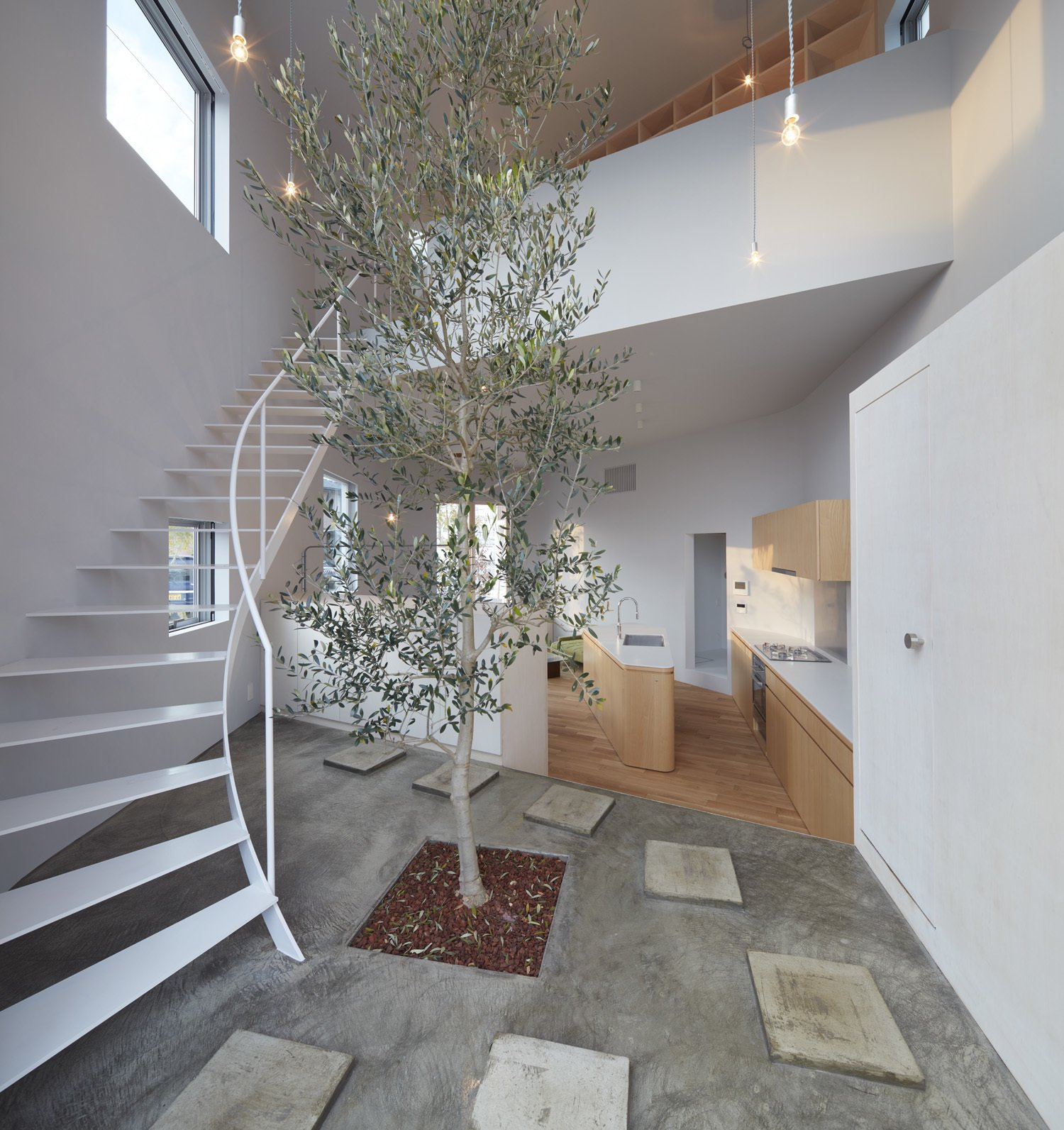 Tagged: Staircase, Metal Railing, and Metal Tread.  Photo 5 of 10 in 10 Ultra-Modern Homes in Japan from House in Ohguchi by Airhouse