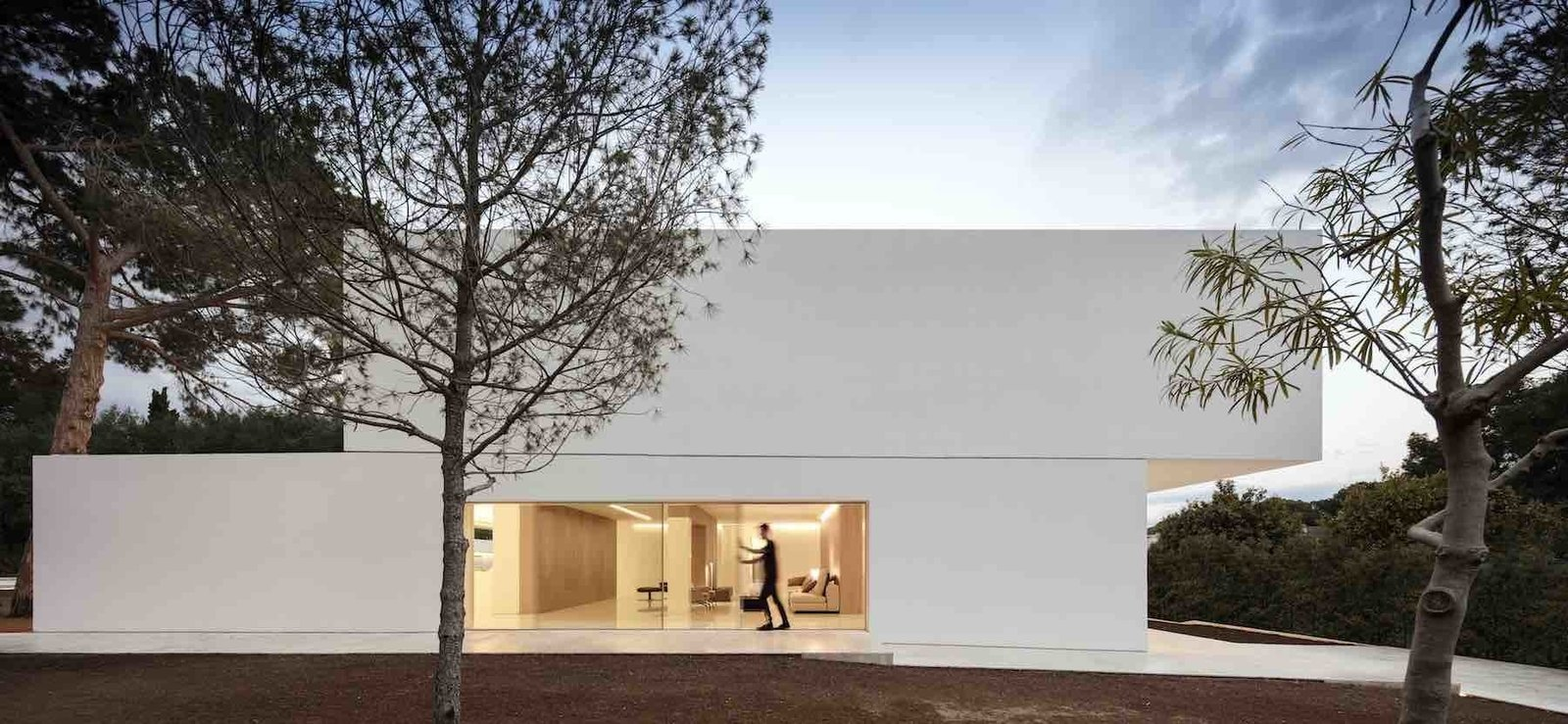 Side facade  House Between the Pine Forest by Leibal